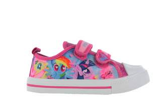 My Little Pony William Lamb Girls MLP Glitter Hook and Loop Trainers UK Size 6