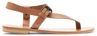 Álvaro González Andreina Leather Sandals - Womens - Tan