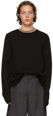 Comme des Garcons Black Knit Wide Hem Sweater