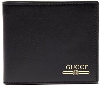 Gucci Debossed Bi Fold Leather Wallet - Mens - Black