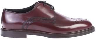 Dolce & Gabbana Bordeaux Derby Shoes