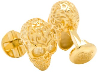 Cufflinks Inc. Cufflinks, Inc. 18K Gold Vermeil Fatale Skull Cuff Links