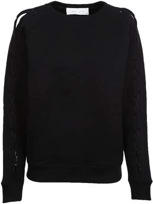 IRO Lace Up Sleeves Sweatshirt