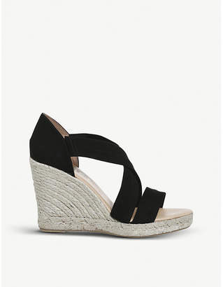 Office Holiday suede espadrille wedge heel sandals