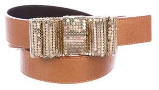 Valentino Sequin Bow-Embellished Belt