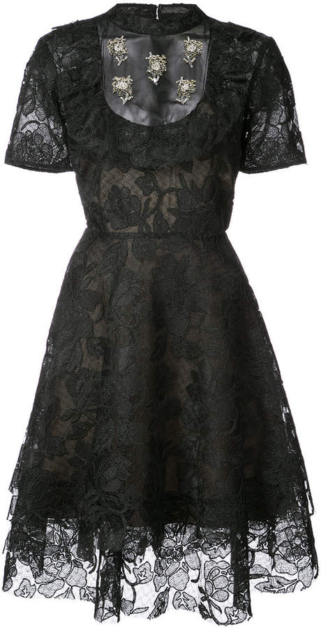 Sachin + Babi Marwar lace flared dress