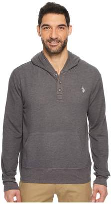 U.S. Polo Assn. Long Sleeve Solid Thermal Hoodie Men's Sweatshirt