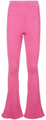 Loewe knitted flared trousers