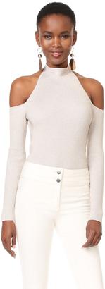 Cushnie Et Ochs Cold Shoulder Bodysuit $725 thestylecure.com