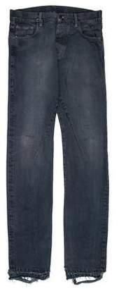 Rick Owens Distressed Slim Jeans