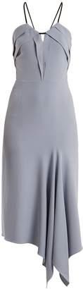 Roland Mouret Fazeley V-neck sleeveless crepe midi dress