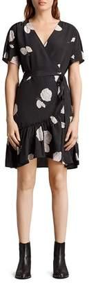 AllSaints Rene Rodin Silk Wrap Dress