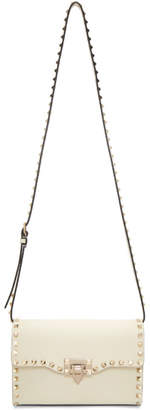 Valentino White Garavani Medium Rockstud Flap Bag