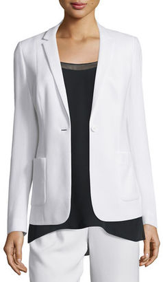 Elie Tahari Wendy Crepe One-Button Jacket $398 thestylecure.com