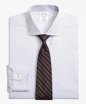 Brooks Brothers Regent Fitted Dress Shirt, Non-Iron Triple Overcheck
