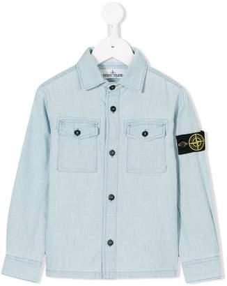Stone Island Junior buttoned shirt