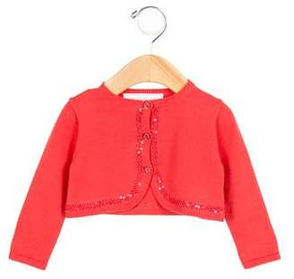 Tartine et Chocolat Girls' Sequin-Embellished Cardigan w/ Tags