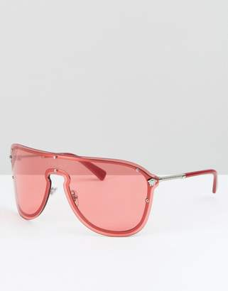 Versace shield sunglasses in pink