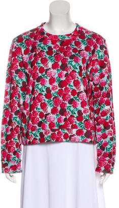 Marc Jacobs Floral Long Sleeve Sweatshirt