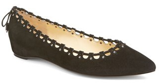 Women's Ivanka Trump 'Coper' Pointy Toe Flat $109.95 thestylecure.com