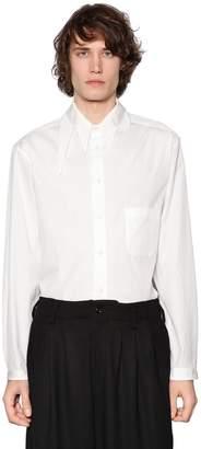 Yohji Yamamoto Fang Collar Cotton Poplin Shirt
