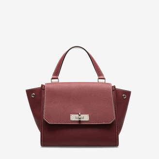 Bally Breeze Red, Women's small grained calf leather top handle bag in dark red