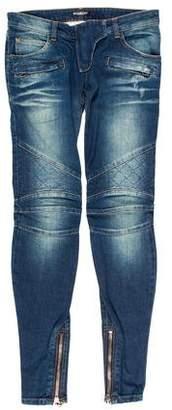 Balmain Low-Rise Skinny Jeans w/ Tags