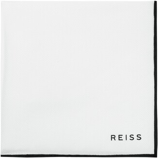 Reiss Moon - Silk Pocket Square in White