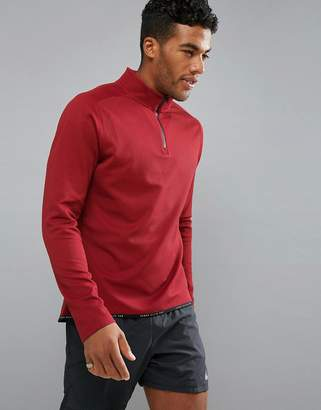 Perry Ellis 360 Sports 1/4 Zip Sweat in Red