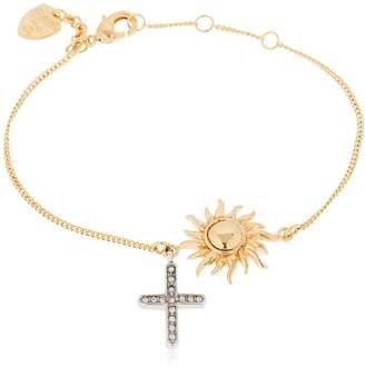 Schield Sun & Cross Bracelet