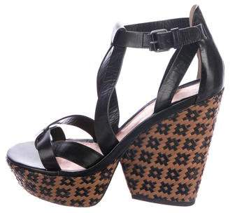 Marc by Marc Jacobs Woven Wedge Sandals