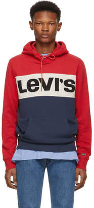 Levi's Levis Red Colorblock Logo Hoodie