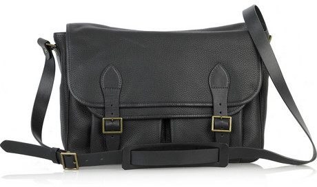 A.P.C. Black leather satchel