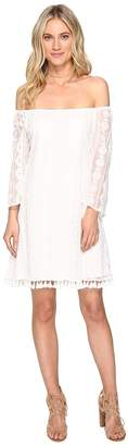 BB Dakota Denney Embroidered Off Shoulder Dress Women's Dress