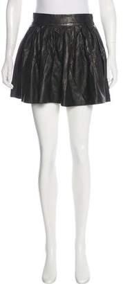 Alice + Olivia Pleated Leather Skirt w/ Tags