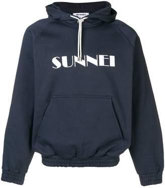 Sunnei basic logo hoodie