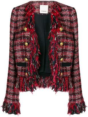 Pinko frayed boucle jacket