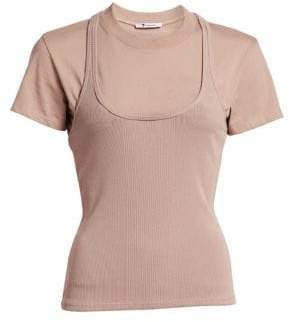 Alexander Wang Double Layer Ribbed Tank Shirt
