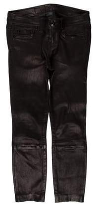 True Religion Leather Mid-Rise Pants