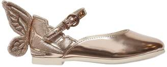 Sophia Webster Chiara Embroidered Wing Leather Flats