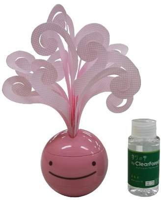 ミクニ のほほん族アロマ&モイスチャー ピンク U804-03 香りの雫グリーンハーブ 45ml(お試し用)セット 水を注ぐだけの自然気化式のエコ加湿器