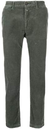 Closed carrot-fit corduroy trousers