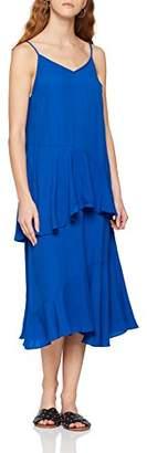 6656c2fee89 Vila CLOTHES Women's Vijadyn S/l Midi Dress Dress, Blue (Surf The Web
