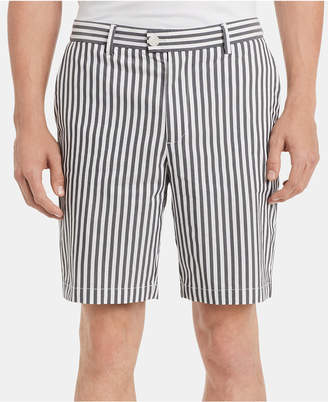 "Calvin Klein Men Classic-Fit Performance Stretch Yarn-Dyed Stripe 9"" Shorts"