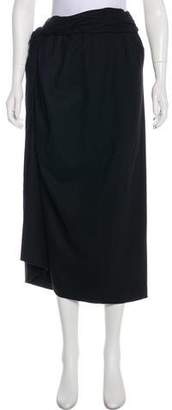Dries Van Noten Wool Midi Skirt
