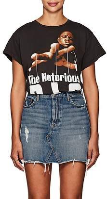 "Madeworn Women's ""The Notorious B.I.G."" Distressed Cotton T-Shirt"