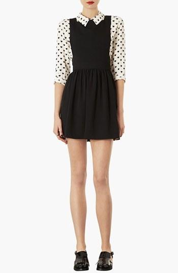 Topshop 'Wonder' Pinafore Dress