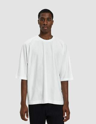Issey Miyake Homme Plisse Release Basic Tee Shirt in White