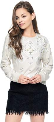 Juicy Couture French Terry Embellished Pullover