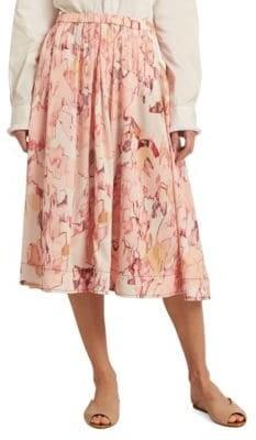 Donna Karan Printed Midi Skirt